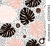 palm branch trendy seamless... | Shutterstock .eps vector #622534361