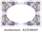 beautiful oval frame with... | Shutterstock .eps vector #622538069