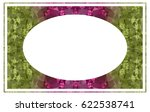 beautiful oval frame with... | Shutterstock .eps vector #622538741