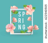 spring banner with flowers. you ... | Shutterstock .eps vector #622540505