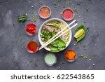 traditional vietnamese noodle... | Shutterstock . vector #622543865
