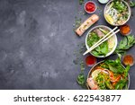 assorted asian dinner with... | Shutterstock . vector #622543877