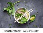 traditional vietnamese noodle... | Shutterstock . vector #622543889