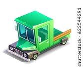 isometric vintage truck | Shutterstock .eps vector #622544291