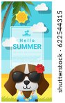hello summer background with...   Shutterstock .eps vector #622544315