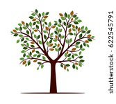 color tree with leafs. vector... | Shutterstock .eps vector #622545791