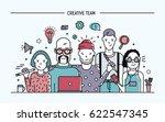 creative business team concept. ... | Shutterstock .eps vector #622547345