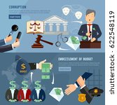 anti corruption fight stealing... | Shutterstock .eps vector #622548119