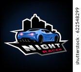 night street racer  emblem ... | Shutterstock . vector #622548299