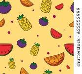 pattern fruit mangosteen...   Shutterstock .eps vector #622553999