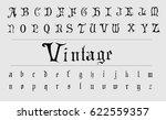 vintage gothic font   black...   Shutterstock .eps vector #622559357