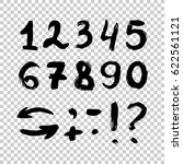 vector set of calligraphic... | Shutterstock .eps vector #622561121