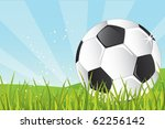 soccer ball in the grass   Shutterstock . vector #62256142