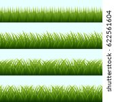 grass border compilations | Shutterstock .eps vector #622561604