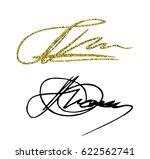 set of author's signatures.... | Shutterstock .eps vector #622562741