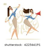 business woman. office lady.... | Shutterstock .eps vector #622566191