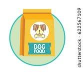 funky dog food bag   pet toys...   Shutterstock .eps vector #622567109