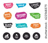 ink brush sale banners and... | Shutterstock .eps vector #622568375