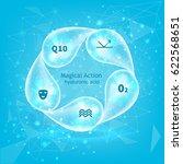 whirlpool of hyaluronic acid... | Shutterstock .eps vector #622568651