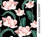 Seamless Tulip Vintage Pattern...