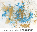 blue  white and golden liquid... | Shutterstock . vector #622573805