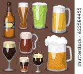 alcohol beer vector... | Shutterstock .eps vector #622584455