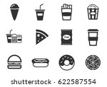 fastfood web icons for user... | Shutterstock .eps vector #622587554