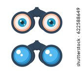 binoculars with eyes icon.... | Shutterstock .eps vector #622588649