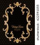 vintage richly decorated frame... | Shutterstock .eps vector #622591055