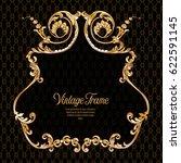 vintage richly decorated frame... | Shutterstock .eps vector #622591145