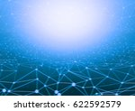 blue glow light of networking | Shutterstock . vector #622592579
