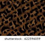 leopard pattern  vector ... | Shutterstock .eps vector #622596059