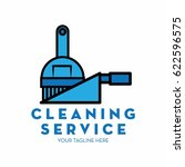 cleaning service logo with text ... | Shutterstock .eps vector #622596575