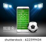 soccer online concept  football ... | Shutterstock .eps vector #622599434