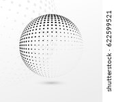 abstract dotted sphere.... | Shutterstock .eps vector #622599521
