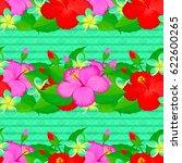 exquisite pattern of hibiscus...   Shutterstock .eps vector #622600265