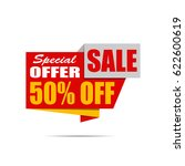 sale banner. yellow and red... | Shutterstock .eps vector #622600619