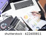 business accountant with... | Shutterstock . vector #622600811