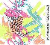 vector abstract mark making... | Shutterstock .eps vector #622606625