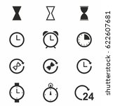 time and clock vector icon set | Shutterstock .eps vector #622607681