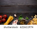 dried mixed pasta and... | Shutterstock . vector #622611974