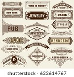 mega set of banners and badges | Shutterstock .eps vector #622614767