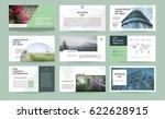 original green presentation... | Shutterstock .eps vector #622628915