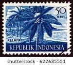 indonesia   circa 1960  a stamp ...   Shutterstock . vector #622635551