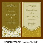 set of vintage invitation cards ... | Shutterstock .eps vector #622642481