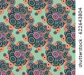 retro seamless colorful dots...