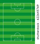 soccer football field vector  | Shutterstock .eps vector #622645769