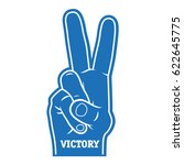 foam finger victory icon | Shutterstock .eps vector #622645775