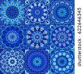 blue tile seamless pattern.... | Shutterstock .eps vector #622646345