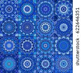 blue tile seamless pattern.... | Shutterstock .eps vector #622646351